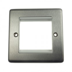 Eurolite Grid Stainless Steel White Module Frame Single Plate with White Insert