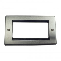 Eurolite Grid Stainless Steel Black Module Frame Double Plate with Black Insert