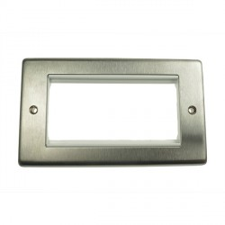 Eurolite Grid Stainless Steel White Module Frame Double Plate with White Insert