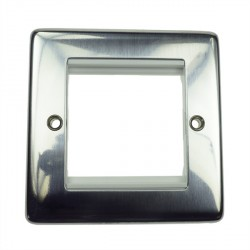 Eurolite Grid Polished Stainless White Module Frame Single Plate with White Insert