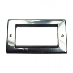 Eurolite Grid Polished Stainless Black Module Frame Double Plate with Black Insert