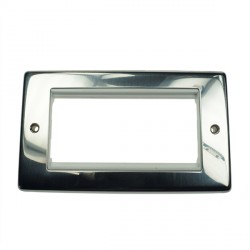 Eurolite Grid Polished Stainless White Module Frame Double Plate with White Insert
