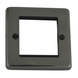 Eurolite Grid Black Nickel Black Module Frame Single Plate with Black Insert