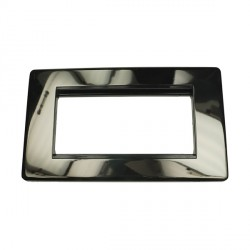 Eurolite Grid Black Nickel Concealed Fix Black Module Frame Single Plate with Black Insert