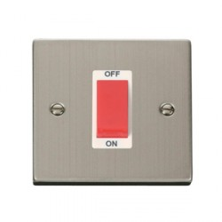 Click Deco Victorian Stainless Steel Single 45A Switch