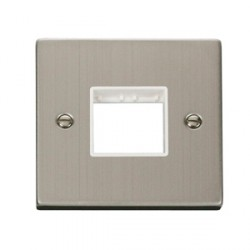 Click Deco Victorian Stainless Steel Single Double Aperture Plate