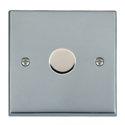 Hamilton Cheriton Victorian Bright Chrome Push On/Off Dimmer 1 Gang 2 way 400W with Bright Chrome Insert