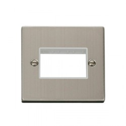 Click Deco Victorian Stainless Steel Single Triple Aperture Plate