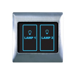 Retrotouch Metal Touch & Remote Light Switch 2 Gang