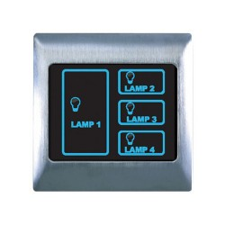 Retrotouch Metal Touch & Remote Light Switch 4 Gang