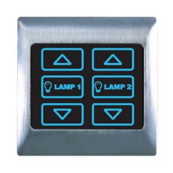 Retrotouch 2 gang 1 way dimmer