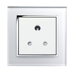 Retrotouch Crystal White Chrome Trim 5A Single Socket