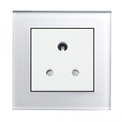 Retrotouch Crystal White Plain Glass 5A Single Socket