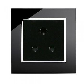 Retrotouch Crystal Black Chrome Trim 5A Single Socket