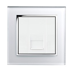 Retrotouch Crystal White Chrome Trim BT Master Socket