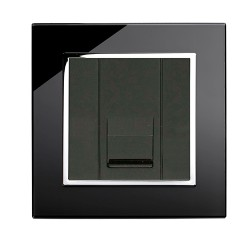 Retrotouch Crystal Black Chrome Trim BT Master Socket