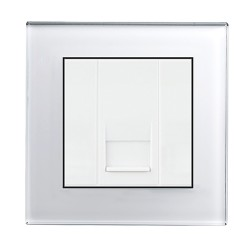 Retrotouch Crystal White Plain Glass BT Slave Socket