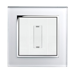 Retrotouch Crystal White Chrome Trim 13A Unswitched Fused Spur