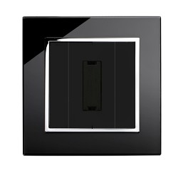 Retrotouch Crystal Black Chrome Trim 13A Unswitched Fused Spur
