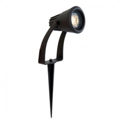 Ansell Lighting Flora GU10 LED Black Garden Light IP65