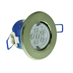 Click Ovia Inceptor Micro 7W Cool White Non-Dimmable Fixed/Adjustable LED Downlight with Satin Chrome Bezels