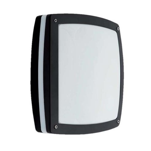 Switched Plaster Wall Lights : Ansell Sidewalk Black Wall Light with Integral Microwave Sensor at UK Electrical Supplies.