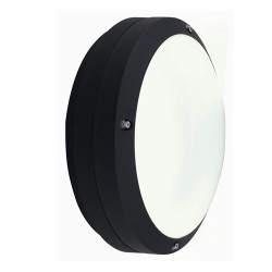 Ansell Canto LED Black Wall Light with Integral Microwave Sensor