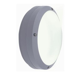 Ansell Canto LED Silver Grey Wall Light with Integral Microwave Sensor