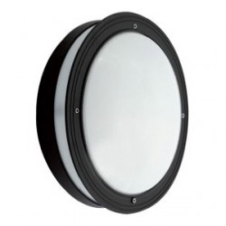 Ansell Piano CFL Black Wall Light with Microwave Sensor