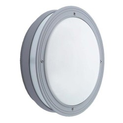 Ansell Piano CFL Silver Grey Wall Light with Microwave Sensor