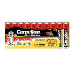 Camelion AAA Batteries Pack of 10 1.5V Plus Alkaline