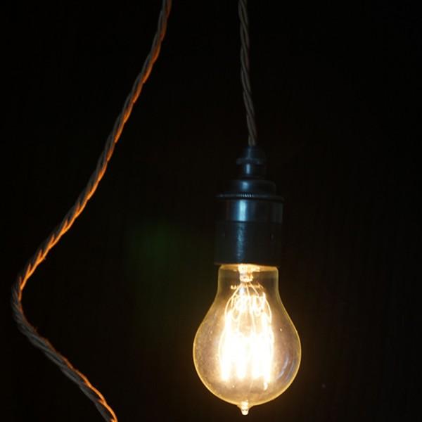 Ferrowatt Antique Quad Loop Carbon Filament Lamp 50W Edison Screw