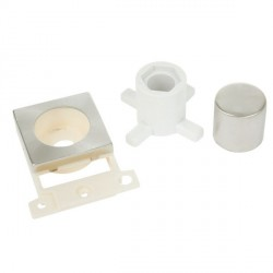 Click Minigrid MD150BS Brushed Steel Dimmer Module Mounting Kit