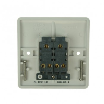 Click Mode Double 10amp 2 Way White PVC Switch