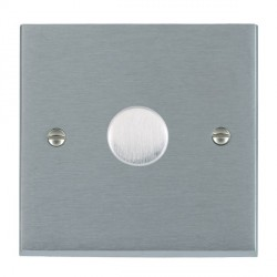 Hamilton Cheriton Victorian Satin Chrome Push On/Off Dimmer 1 Gang 2 way 400W with Satin Chrome Insert