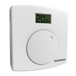 Heatmiser Central Heating Dial Thermostat with LCD Indication