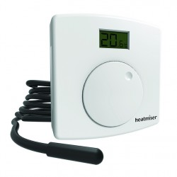 Heatmiser DS1-EL Central and Underfloor Heating Dial Thermostat with LCD Indication