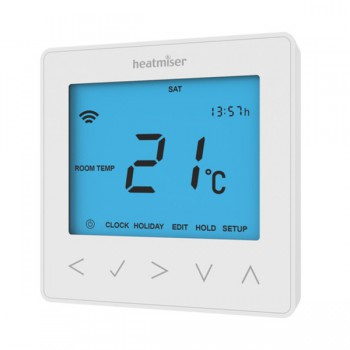 Heatmiser neoStat Smartphone Controlled Programmable Central Heating Thermostat - White