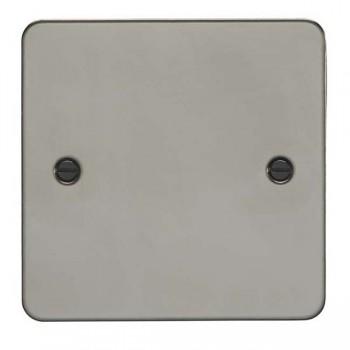 Eurolite Enhance Flat Plate Black Nickel 1 Gang Blank Plate