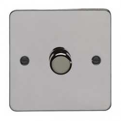 Eurolite Enhance Flat Plate Black Nickel 1 Gang 400W Dimmer with Matching Knob