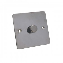 Eurolite Flat Plate Black Nickel 1 Gang 700w Dimmer with Matching Knob