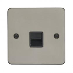 Eurolite Enhance Flat Plate Black Nickel 1 Gang Telephone Master with Black Insert