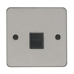 Eurolite Enhance Flat Plate Black Nickel 1 Gang Telephone Slave with Black Insert