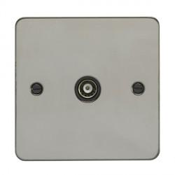 Eurolite Enhance Flat Plate Black Nickel 1 Gang TV with Black Insert