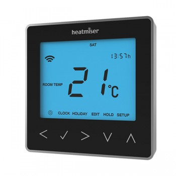 Heatmiser neoStat Smartphone Controlled Programmable Central Heating Thermostat - Black