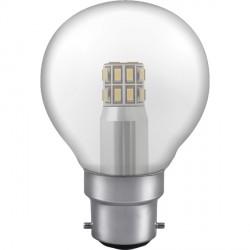 Crompton Lamps Manor Range LED Warm White Clear Glass 3W Golfball Bulb - Bayonet Cap
