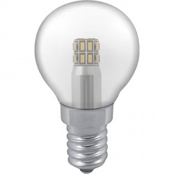 Crompton Lamps Manor Range LED Warm White Clear Glass 3W Golfball Bulb - Small Edison Screw