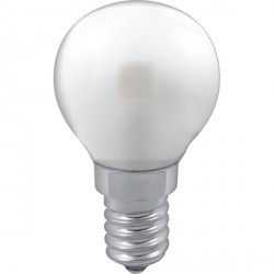Crompton Lamps Manor Range LED Warm White Satin Glass 3W Golfball Bulb - Small Edison Screw