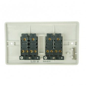 Click Mode 4 Gang 10amp 2 Way White PVC Switch