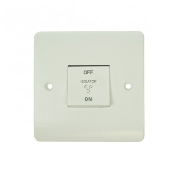 Click Mode 10amp White PVC Fan Isolator